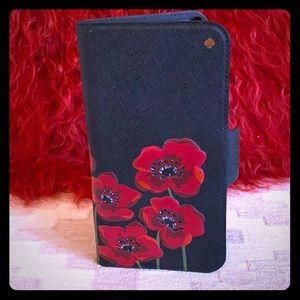 Kate Spade iPhone X Poppies Folio Case